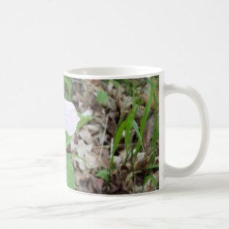 Pink trillium classic white coffee mug