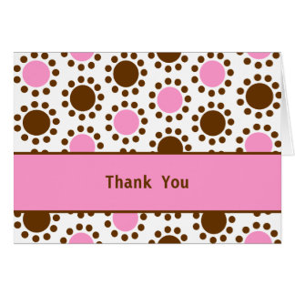Pink Trim Pink and Brown Dots card