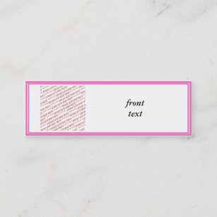 Add border to business cards templates zazzle pink trimmed border template mini business card cheaphphosting Images