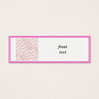 Pink Trimmed Border Template Mini Business Card