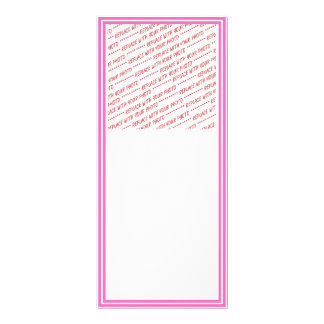 Pink Trimmed Border Template Rack Card