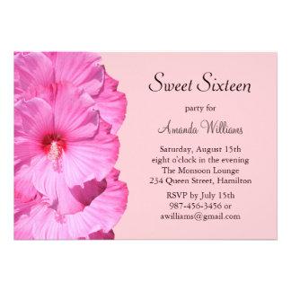 Pink Tropical Birthday Invitation