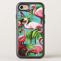 Pink Tropical Flamingos OtterBox Symmetry iPhone 8/7 Case