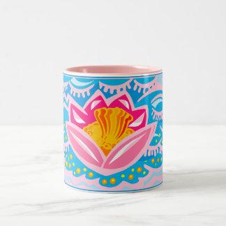 Pink Tropical Flower Mugs
