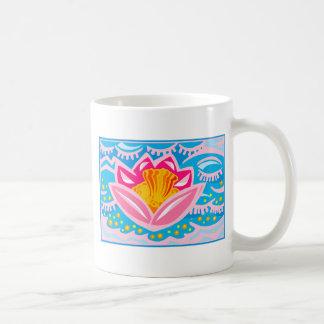 Pink Tropical Flower Coffee Mugs