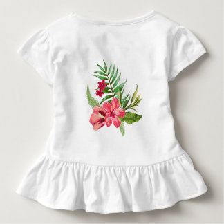 Pink Tropical Flowers Toddler T-shirt