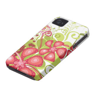 Pink Tropical Hibiscus Abstract iPhone 4 CaseMate iPhone 4 Case