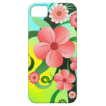 Pink Tropical Hibiscus Floral iPhone 5 5S Cases