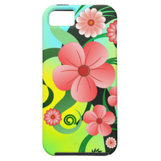 Pink Tropical Hibiscus Floral iPhone 5 Tough Cases
