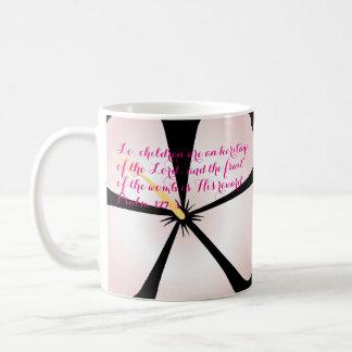 Pink Tropical Hibiscus Mug Bible Verse