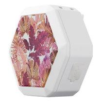 Pink Tropical Leaf Pattern Speakers