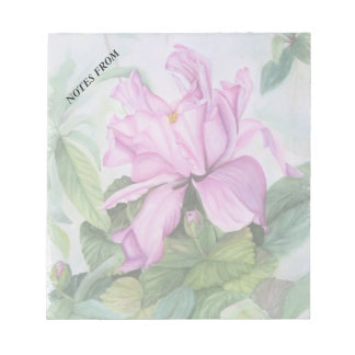 PINK TROPICAL ORCHID CUSTOMIZABLE NOTE PAD