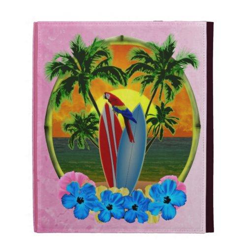 Pink Tropical Sunset iPad Folio Covers