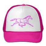 Pink trotter standardbred hat