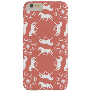 Pink Trotting Horses and Bits Pattern Barely There iPhone 6 Plus Case