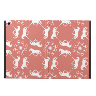 Pink Trotting Horses and Bits Pattern iPad Air Covers