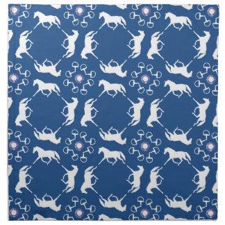 Pink Trotting Horses and Bits Pattern Napkin