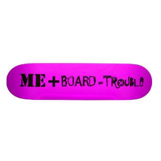 PINK TROUBLE BOARD ME+ SKATE DECK