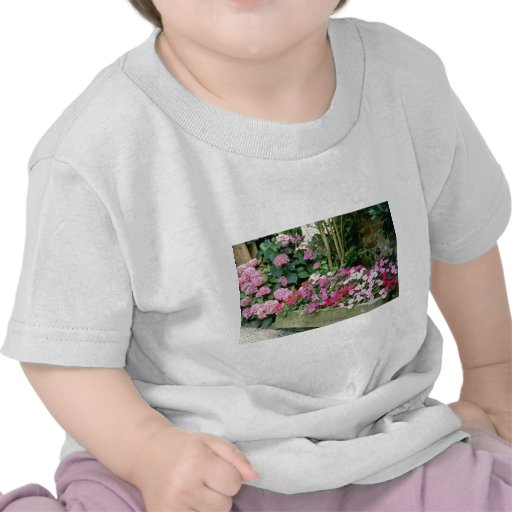 Pink Trough Planted With Busy Lizzies flowers Shirt