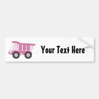 Pink Truck (Personalized) Bumper Sticker