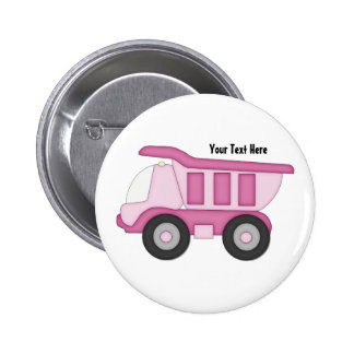 Pink Truck (Personalized) Pin