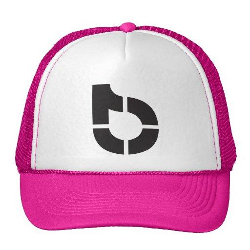 pink trucker hat with company logo zazzle