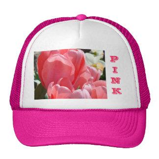 Pink Trucker's Hats Tulips Moms Daughters Nanna