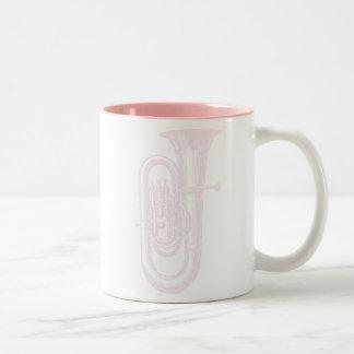 Pink Tuba Two-Tone Coffee Mug