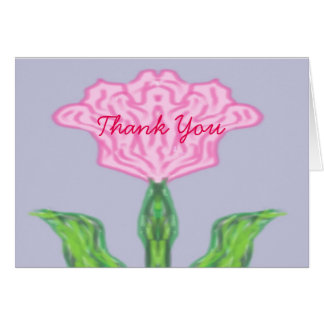 Pink Tulip Abstract Card