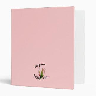 Pink Tulip Adoption Journal Binder