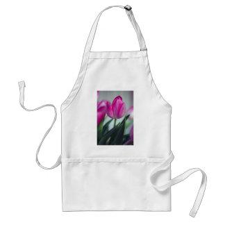 Pink tulip adult apron