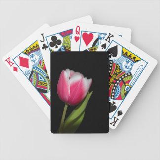 Pink Tulip Bicycle Playing Cards
