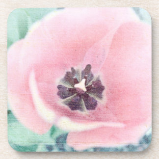 Pink Tulip Blossom Drink Coaster