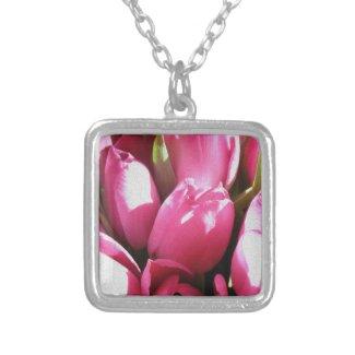 Pink Tulip Bouquet Pendant