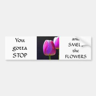 Pink Tulip Bumper Sticker