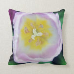 Pink Tulip close up Throw Pillow
