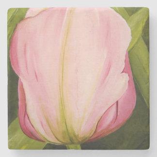 Pink Tulip Coaster by Michelle Meyer