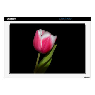 Pink Tulip Decal For Laptop