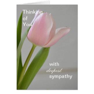 Pink Tulip Deepest Sympathy Card
