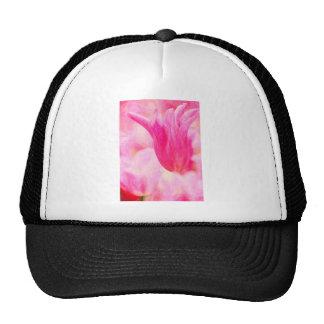 Pink Tulip design Hats