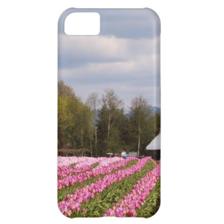 Pink Tulip Field Cover For iPhone 5C