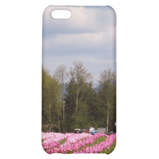 Pink Tulip Field iPhone 5C Covers