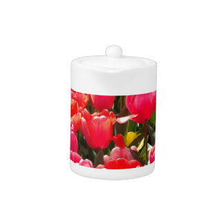 Pink Tulip Garden Teapot