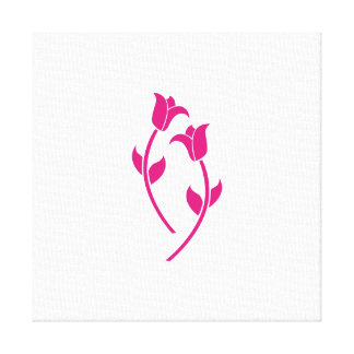 Pink Tulip Graphic Stretched Canvas Print