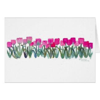 Pink Tulip Grove Card
