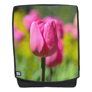 Pink Tulip in the Garden Backpack