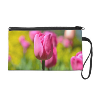 Pink Tulip in the Garden Wristlet