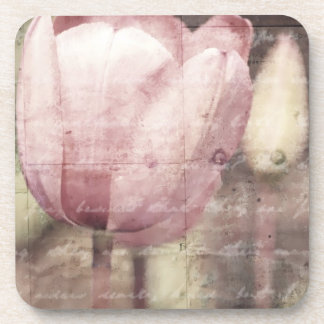 Pink Tulip Inspiration Drink Coasters