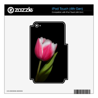Pink Tulip iPod Touch 4G Skin