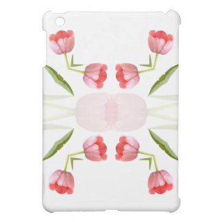 Pink Tulip Kaleidoscope Pattern Case For The iPad Mini